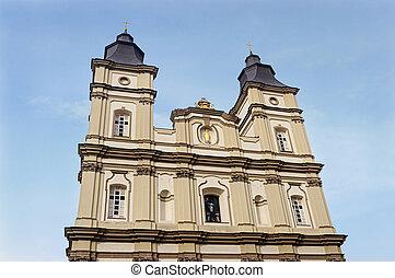 Jesuit Church in Ivano-Frankivsk, Ukraine - Ivano-Frankivsk,...