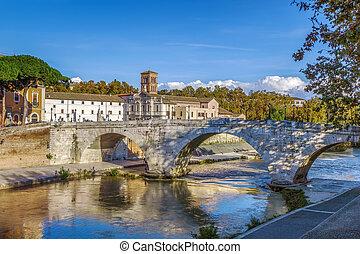 Pons Cestius, Rome - The Pons Cestius (Ponte Cestio, Cestius...
