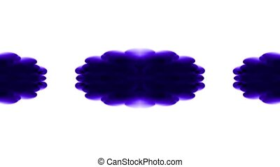 purple flower smoke pattern