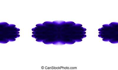 purple flower smoke pattern