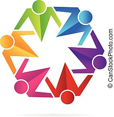 Logo teamwork social people