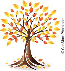 Logo Ecology fall tree family icon vector art design...