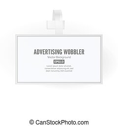 Plastic Advertising Wobbler Vector. Papper Price Tag...