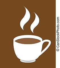 Cup Of Coffee - A cup of coffee design on a brown background