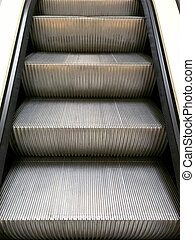 Steps of the escalator.