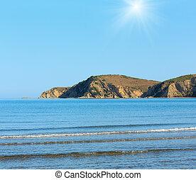 albania), światło słoneczne, morze, brzeg