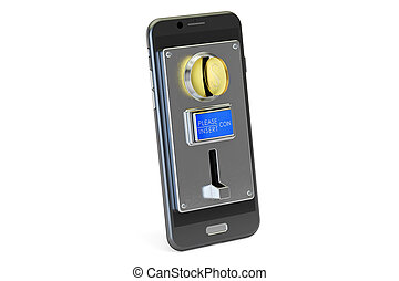 Mobile phone payment concept. 3D rendering