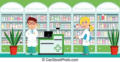 Pharmacy - Vector illustration of drug stores