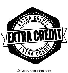 Extra credit sign or stamp - Extra credit grunge rubber...