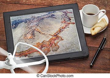 aerial photography concept - Colorado foothills - aerial...