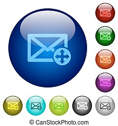 Move mail color glass buttons - Move mail icons on round...