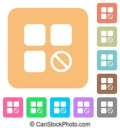 Component disabled rounded square flat icons - Component...