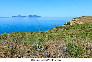 Albania, rano, morze, brzeg