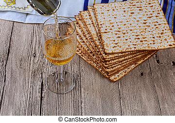 wine and matzoh jewish passover bread Passover matzo...