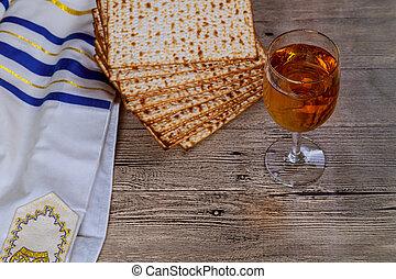 wine and matzoh Jewish holiday, Passover matzo Passover wine...