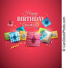Luxury birthday template