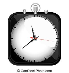 black stopwatch time icon, vector illustration design