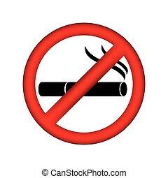 symbol no smoking icon, vector illustration design
