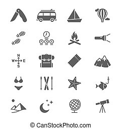 Traveling flat icons - Simple vector icons. Clear and sharp....