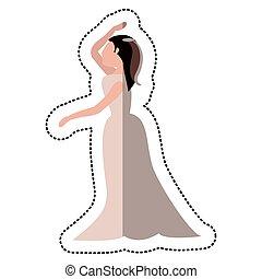 bride wedding dance pose
