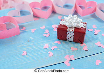 Red gift for beloved person