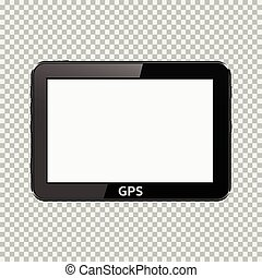 Blank GPS device isolated on transparent background