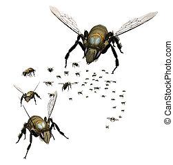 Swarm of Bees -  Swarm of Bees - 3D render