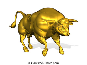 Golden Bull - 3D render