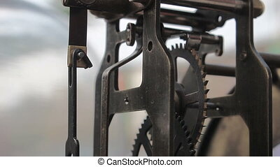 vintage clock gears mechanism