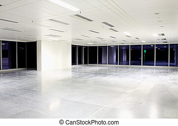 empty room  - empty office room in modern building indoor