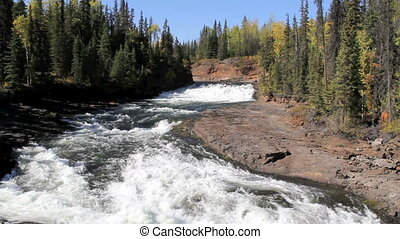 Down River From Cheslatta Falls - Cheslatta Falls British...