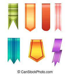 Vertical banners realistic style collection