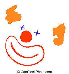 happy clown - vector - Cartoon illustration of the clown -...