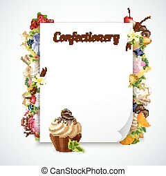 Confectionery Decorative Frame - Decorative frame with...
