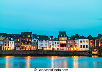 View at the east side of the city of Maastricht with the...
