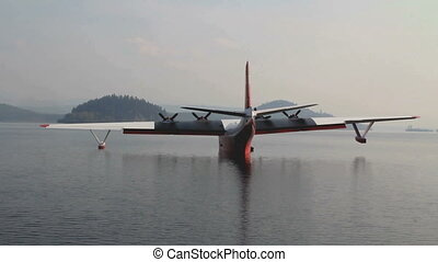 Martin Mars Water Tanker - FRASER LAKE, BC- AUG 23...