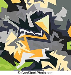 Abstract pattern of polygons vector illustration