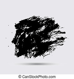 Black paint, ink brush strokes, brushes, lines. Dirty...