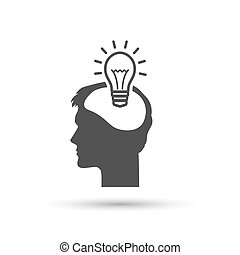 Pictograph of bulb concept, icon. Vector illustration