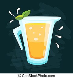 Lemon and lime lemonade vector background. - Lemon and lime...