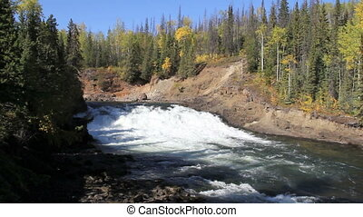 The Falls at Cheslatta - Cheslatta Falls British Columbia...