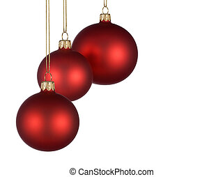 Christmas arrangement with red baubles