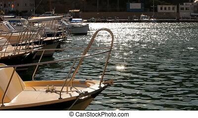 Several small boats