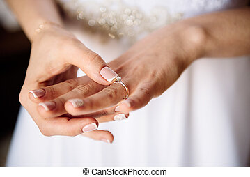 bride with Engagement ring