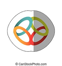 sticker shading colorful rings in circular shape