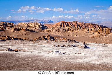 Valle de la Luna in San Pedro de Atacama, Chile - Valle de...