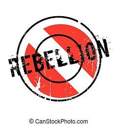 Rebellion rubber stamp. Grunge design with dust scratches....