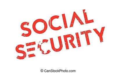 Social Security rubber stamp