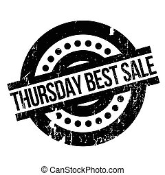 Thursday Best Sale rubber stamp. Grunge design with dust...