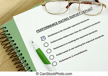 Performance rating - Could be performance appraisal customer...